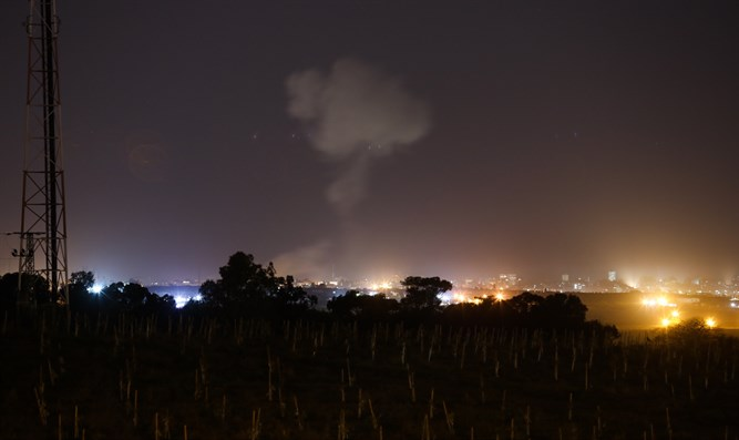 Smoke rises following Israeli attack on Gaza