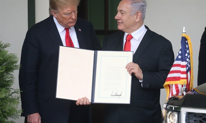 Netanyahu with Trump at the White House