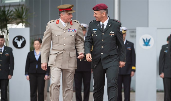 Chief of the Defense Staff General Sir Nick Carter with IDF Chief of Staff Aviv Kochavi