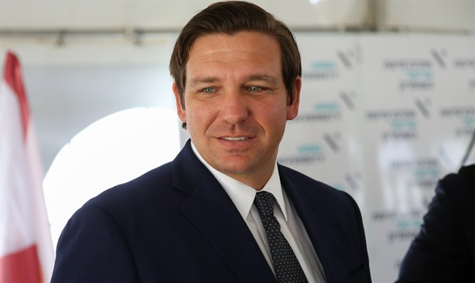 Florida Governor Ron DeSantis in Ariel