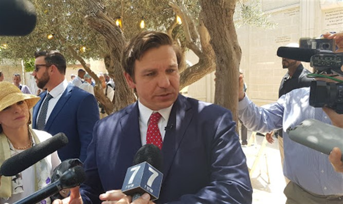 Florida Gov. Ron DeSantis at the City of David