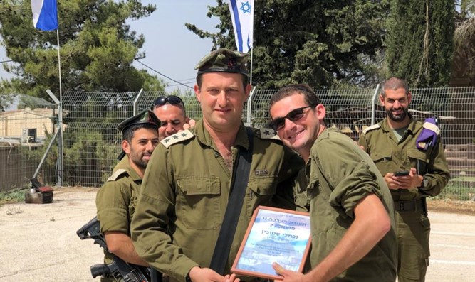 Col. David Shapira and Naftali Stubin