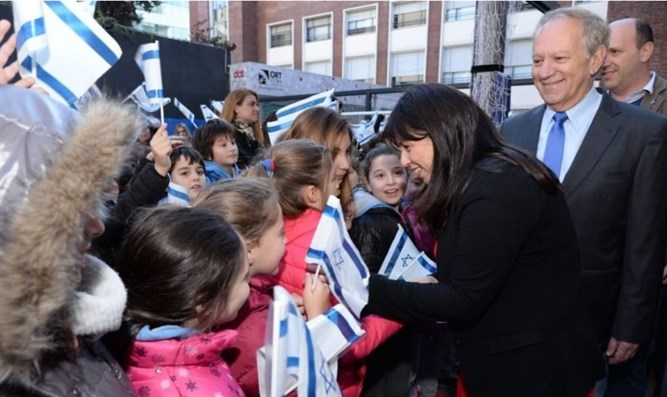 Tzipi Hotovely meets with students at the ORT Argentina school in Buenos Aires
