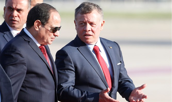 Abdel Fattah al-Sisi and King Abdullah II