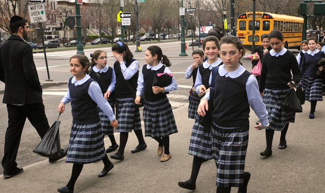 Young schoolgirls in Crown Heights, Brooklyn, March 21, 2012.