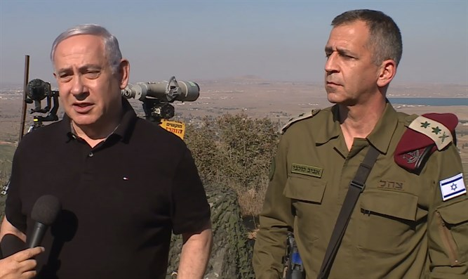 PM and IDF Chief of Staff in the North