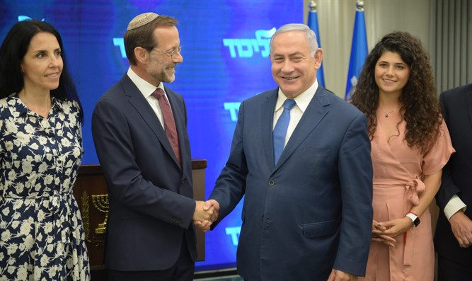 Feiglin with Netanyahu