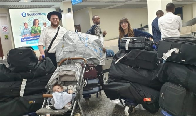 Rabbi Chaim and Dina Bar Sella and Shneur Zalman arrive in Kigali, Rwanda