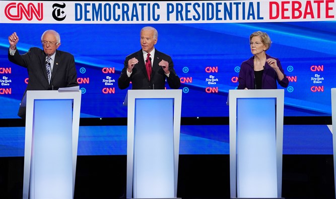 Democratic presidential candidates at debate in Ohio