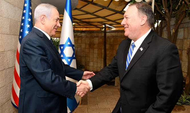 Mike Pompeo meets Binyamin Netanyahu in Jerusalem