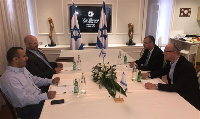 Meeting of Likud and Blue and White negotiation teams