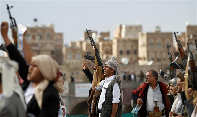 Houthi insurgents in Sanaa, Yemen