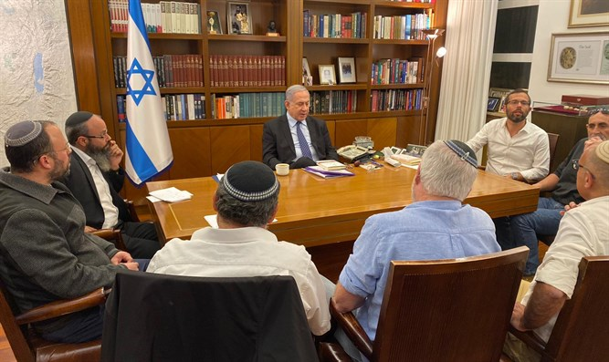 Netanyahu with heads of the Yesha Council