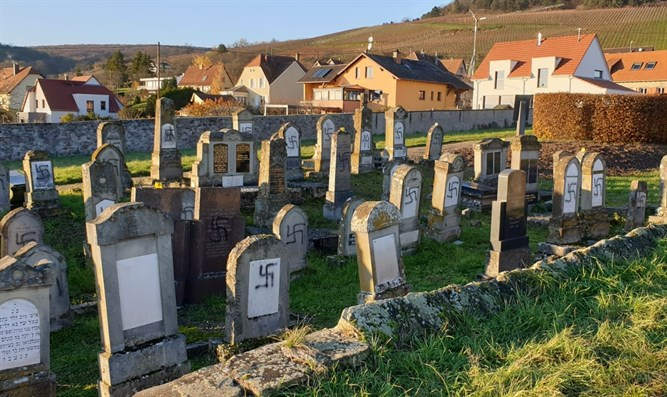 Cemetery in Westhoffen which was vandalized