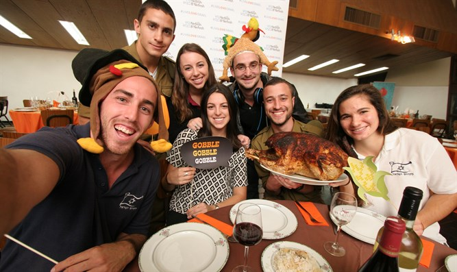Immigrants celebrate Thanksgiving in Israel