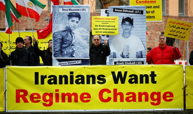 Demonstrators gather in Germany in show of solidarity with Iranian protesters