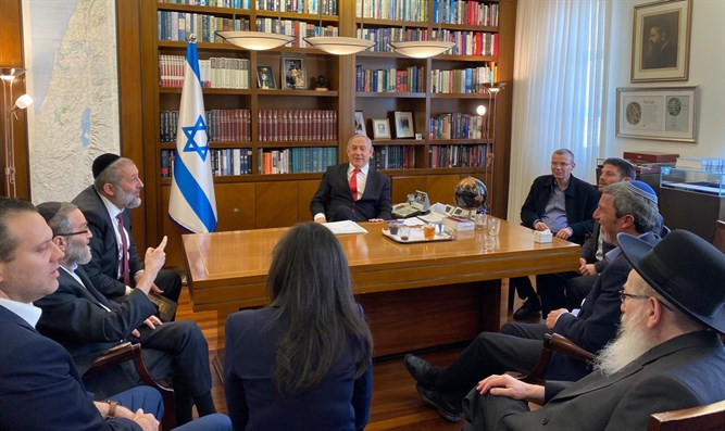 PM Netanyahu with right-wing leaders
