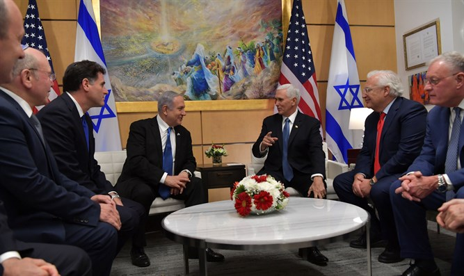 Pence and Netanyahu at their meeting