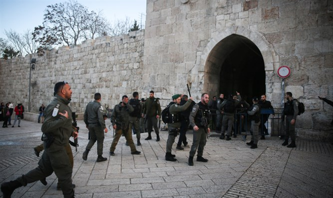 Israeli Border Police in the Old City of Jerusalem
